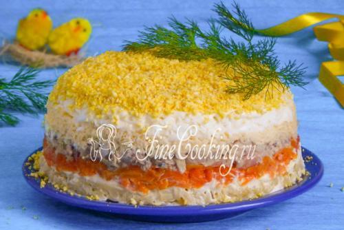 Салат Мимоза слои по порядку с сыром и маслом. Салат Мимоза с сыром