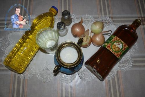 Как замариновать лук для соленой селедки с уксусом