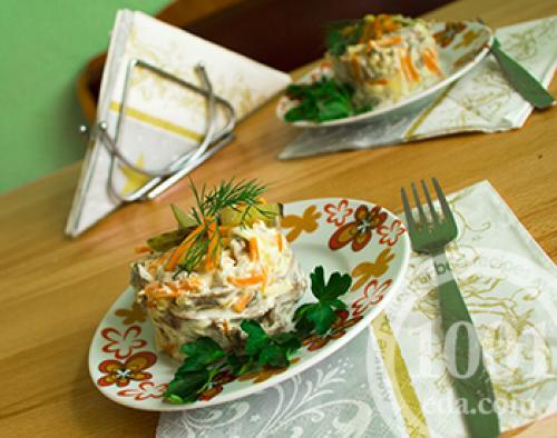 Салат из свиного сердца рецепт с грибами. Салат из свиного сердца с грибами: пошагово с фото