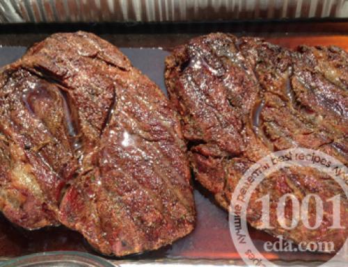 Отбивные из говядины в фольге в духовке. Отбивные из говядины в духовке в фольге