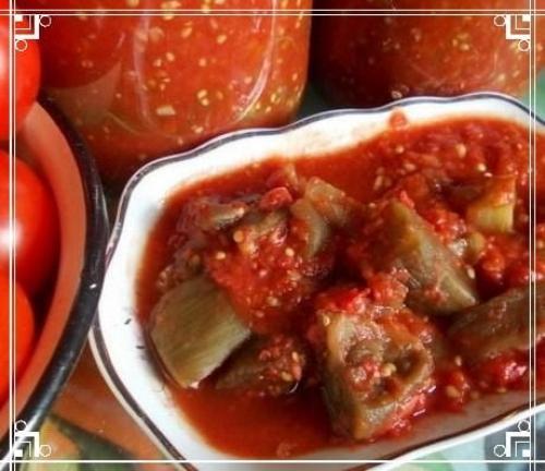 Баклажаны в томате на зиму рецепт приготовления с чесноком. Баклажаны в томате на зиму: рецепты приготовления без стерилизации
