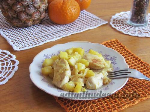 Куриное филе с ананасами ПП. Куриное филе с ананасом