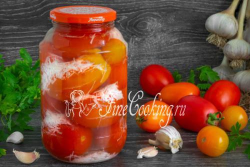 """Рецепт помидоры под снегом с чесноком. Маринованные помидоры """"под снегом"""" на зиму"""