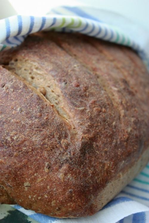 Ржаной хлеб на закваске с солодом.