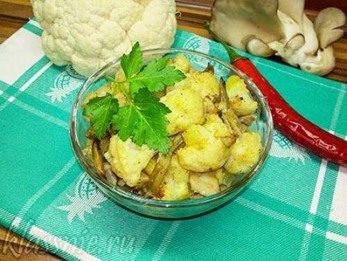 Как приготовить цветную капусту, как грибы. Жареные грибы с цветной капустой