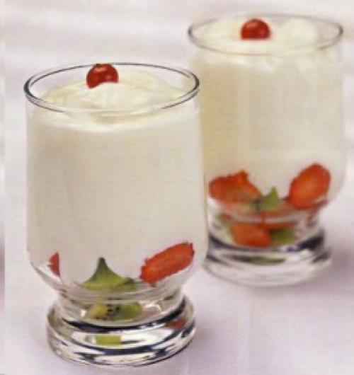 Йогурт из кефира и варенья. Домашний йогурт