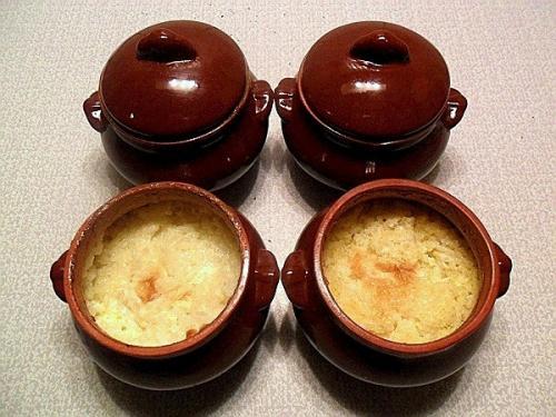 Пшено рисовая каша в горшочке.