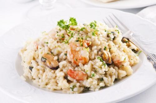 Рис с морепродуктами в сливочном соусе рецепт. Ризотто с морепродуктами в сливочном соусе: рецепт с вином