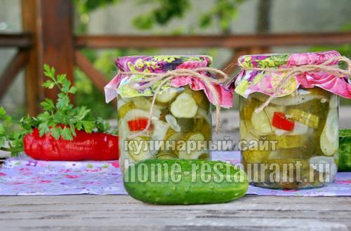 Салат из огурцов с кориандром на зиму рецепты. Латгальский салат из огурцов с луком на зиму