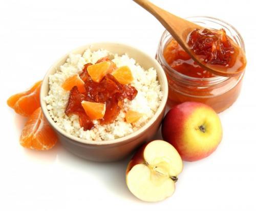 Варенье из яблок и мандаринов.