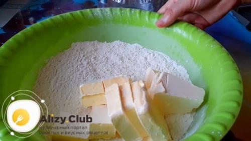Пирог с сырой рыбой и рисом. Пошаговое приготовление