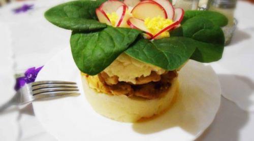 Пюре картофельное с куриным филе. Рецепт картофельного пюре с курицей