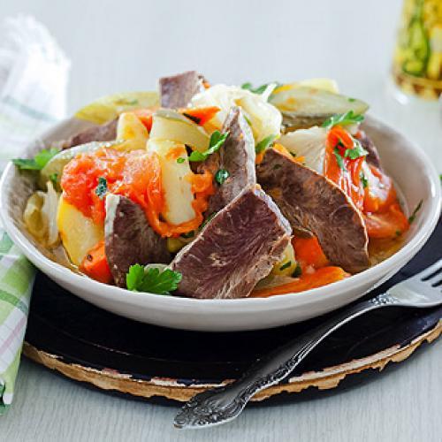Сердце говяжье с овощами в мультиварке. Говяжье сердце с овощами в мультиварке