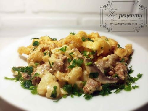 Паста с индейкой и сыром. Итальянская паста с индейкой в сливочном соусе