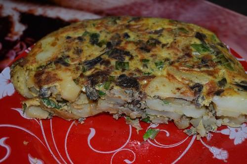Картофельная запеканка с грибами.Как сделать по-французски с сыром?
