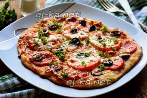 Пельменное тесто для пиццы. Куда использовать остаток теста для пельменей? Сделайте пиццу!