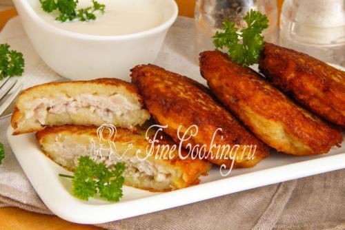 Драники с грибами и фаршем. Картофельные драники с фаршем и грибами: рецепт с фото