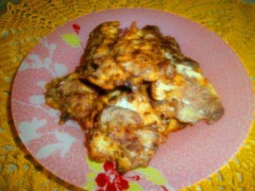 Печень в крахмале с яйцом рецепт.