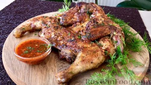Цыпленок табака на гриль сковороде. Рецепт 2: цыпленок табака на сковороде (пошаговые фото)