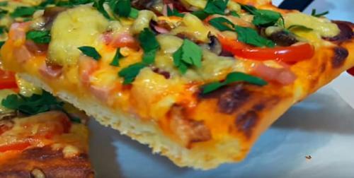 Пицца с грибами сушеными. Пошаговый рецепт пиццы с грибами и колбасой