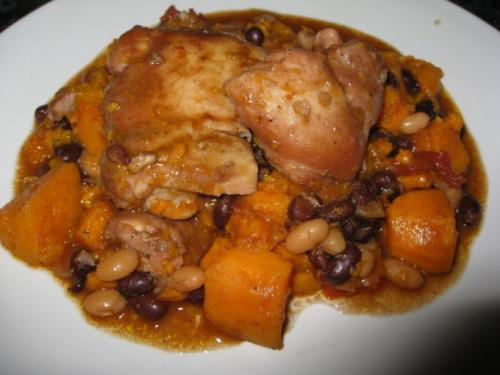 Тушеная картошка с фасолью и курицей. Как приготовить курицу с картофелем и фасолью