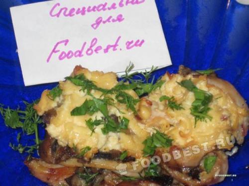 Рецепт кальмаров в сметанном соусе с грибами. Жюльен с кальмарами и грибами